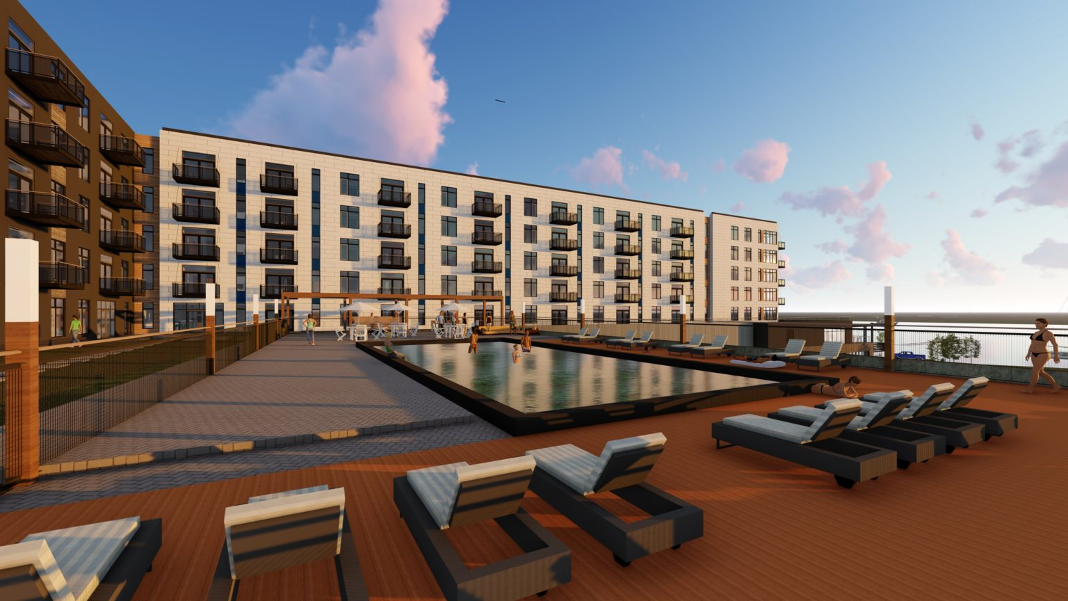Restaurants, pool included in Racine's @North Beach apartments