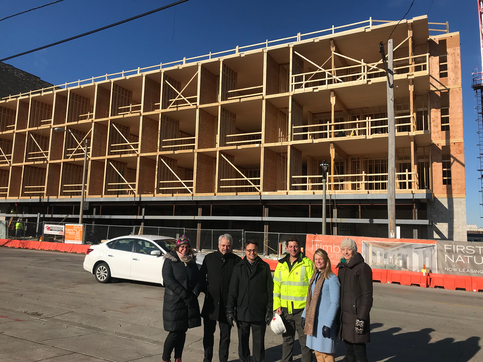 Wood as strong as steel: Timber frame apartment building in Walker's Point to be completed next spring