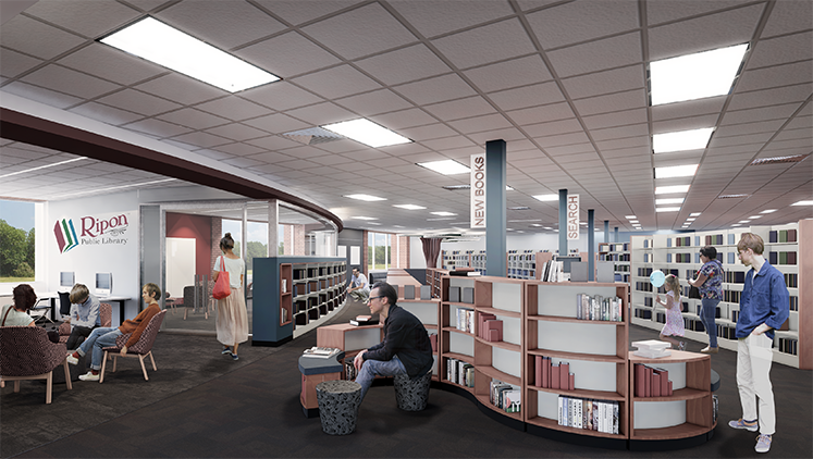 Ripon Public Library approves $500K renovation design, fundraising to start this fall